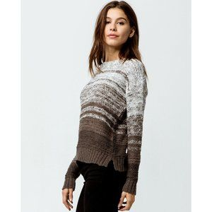 O'Neill Striped Soft Knit Cotton Pullover Sweater